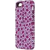 Speck Products CandyShell Inked Carrying Case for iPhone 5/5S - Retail Packaging - Petite Floral Boysenberry/Boysenberry Purple