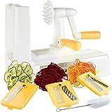 Zestkit Tri-Blade Vegetable Slicer Veggie Cutter Spiralizer with Strong and Heavy Duty, Pasta & Spaghetti Maker