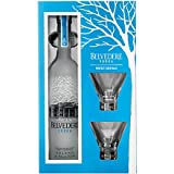 Belvedere Original Vodka 70cl Cocktail Set with 2 Martini Glasses
