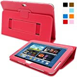 Snugg Galaxy Note 10.1 2013 Edition Case - Smart Cover with Flip Stand & Lifetime Guarantee (Red Leather) for Galaxy Note 10.1 (2013)