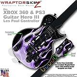 Metal Flames Purple WraptorSkinz Skin fits XBOX 360 & PS3 Guitar Hero III Les Paul Controller (GUITAR NOT INCLUDED)
