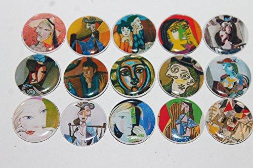 Geocache Refrigerator Magnets - Famous Artist Pablo Picaso Set front-152994