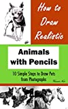 How to Draw Realistic Animals with Pencils: 10 Simple Steps to Draw Pets from Photographs (How to Draw Dogs, How to Draw Cats, How to Draw Horses, Drawing Animals, Drawing Realistic Animals)