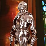 Collectors Heritage Gothic suit of armor, Steel (7 feet, silver)
