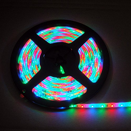 Kitty-Party Multi-Coloured 12V 2A 24W 60Led/M Waterproof Smd 300Led 5M Flexible Led Light Strip Suitable For Home And Outdoor Decoration Use