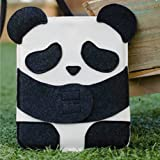 ipad miniカバー 可愛いパンダ柄スリーブケース DIY手作りウールフェルトカバー Handmade Wool Felt Lovely Panda Protective Sleeve for iPad mini (本体+スマートカバー+薄型背面ケース対応サイズ)
