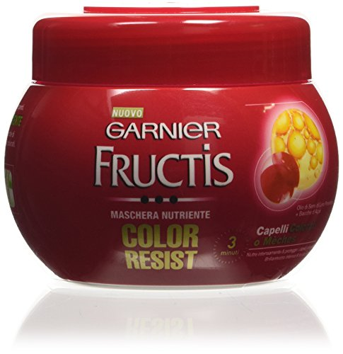 Garnier Fructis Color Resist Maschera Nutriente per Capelli Colorati o Mèches, 300 ml