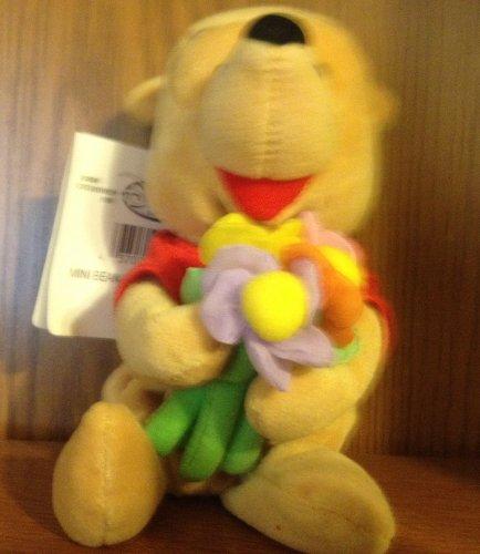 """Disney Beanie Mini Bean Bag Flower Pooh 8"""" - 1"""