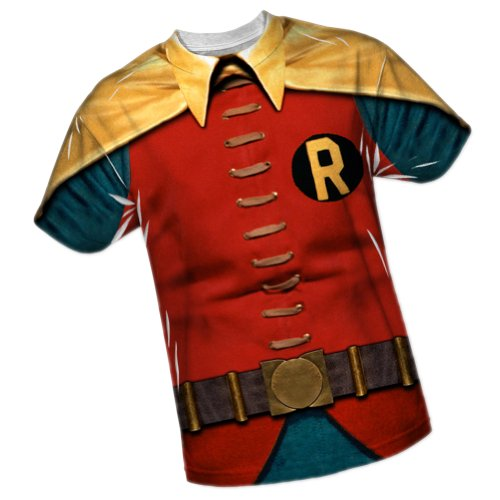 Robin -- Batman TV Show All-Over Front/Back Print Sports Fabric T-Shirt