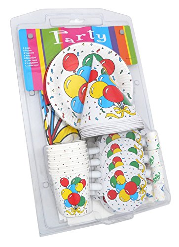 LolliZ Party Pack for 8. Colorful Balloon Design