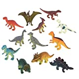 51XVO1m8l3L. SL160  Dozen Small Toy Dinosaurs: Set of 2 inch Plastic Toy Dino Figures