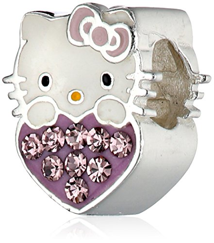 Hello-Kitty-Girls-Sterling-Silver-Crystal-Heart-Birthstone-Charms