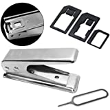Cbus Wireless 5 IN 1 iPhone 5 Sim Card Cutter Cut Convert Regular/Standard & Micro Sim to Nano Sim w/ Adapters & Card Eject Pin
