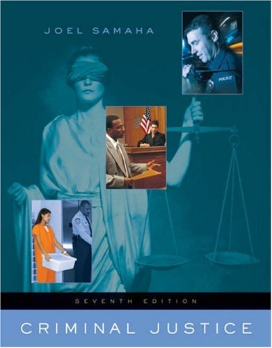 Criminal Justice (with InfoTrac)
