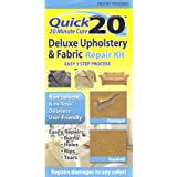 Quick 20 Deluxe Upholstery & Fabric Repair Kit Easily repairs burns, holes, rips, tears. Use on couches, sofas, loveseats, carpet, chairs, car seats, rugs. Great for pet damages.
