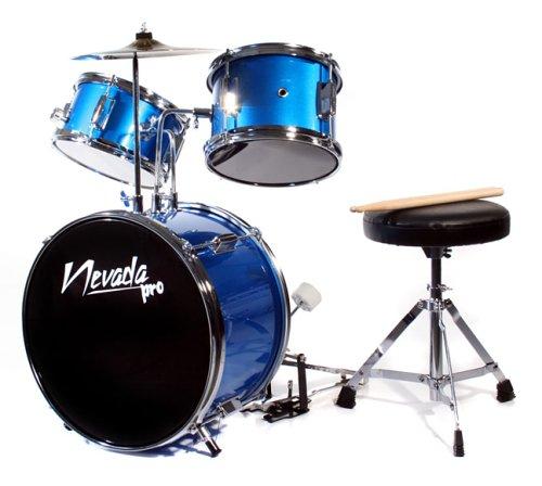 Music Alley Junior Drum Kit - Blue