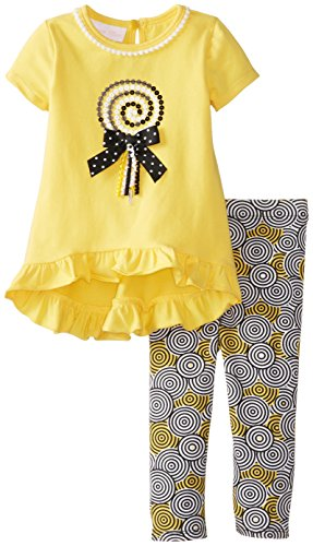 Bonnie Baby Baby-Girls Infant Lollipop Legging Set, Yellow, 18 Months front-1022799