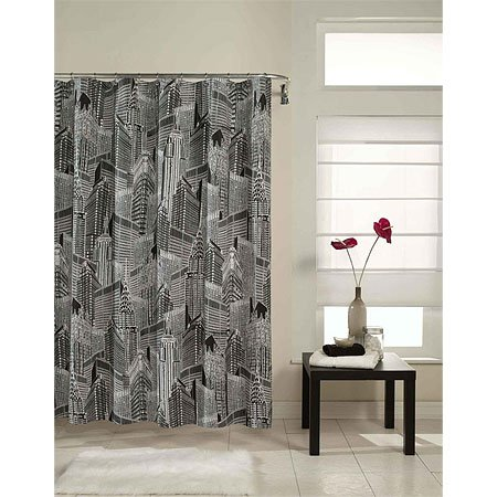 new york city map black and white. Black and white shower curtain