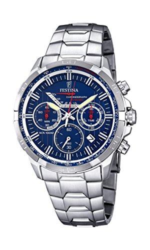 Festina F6836/3 - Reloj de pulsera hombre, Acero inoxidable, color Plateado