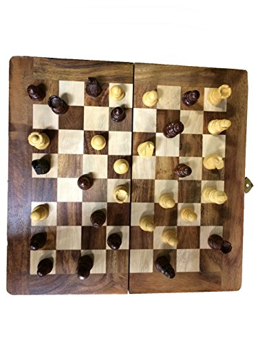 Indiasbigshop Père cadeau du jour Chess Set - Sisam en bois Handmade international Chess Set 12X12nch,