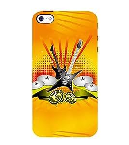 EPICCASE Florence Orange Band Mobile Back Case Cover For Apple iPhone 5s (Designer Case)