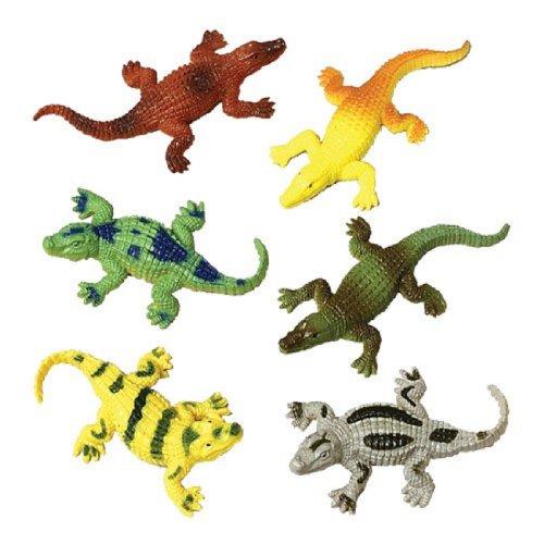 """Dozen Assorted Mini 2.5"""" Crocodile Plastic Toys"""