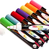 CHALK MARKERS - PREMIUM 8 Pack - Child Friendly Top Premium Pen with Outstanding Reversible Tip - 100% Money Back Guarantee