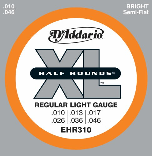 D'Addario EHR310 Half Round Electric Guitar Strings,