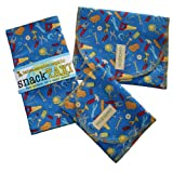 SnackTaxi Reusable Sandwich-sack Bag, Snack-sack Bag and Twice-as-nice Napkin Tools Of The Trade Set.
