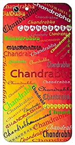 Chandrabha (Popular Girl Name) Name & Sign Printed All over customize & Personalized!! Protective back cover for your Smart Phone : Moto G2 ( 2nd Gen )