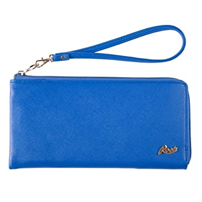 Roots - Travel Wallet With Removable Wristlet Pu Leather - Blue