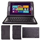 【JUVENA】ASUS VivoTab Note 8 M80TA専用BluetoothワイヤレスキーボードPUレザーケース付 US配列【ペアリング説明書付】