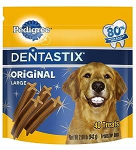PEDIGREE DENTASTIX Original Large Treats for Dogs, 2.08 lbs-40ct.