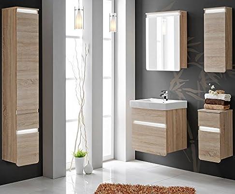 Set Mobili da bagno mobili da bagno Stella 60 cm con Lavandino luce LED