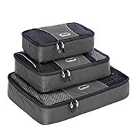eBags Packing Cubes – 3pc Set (Titanium)