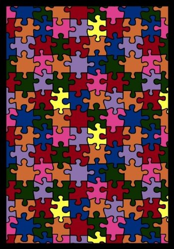 Whimsy Essentials Puzzled Jigsaw Pieces Kids Rug Rug Size: 7'8