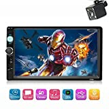 7 Inch Double Din Touch Screen Car Audio Stereo Receiver MP5 Player FM Radio Video Bluetooth with Rear View Camera Support MP3/WMA/WAV/MKV/FLAC/OGG