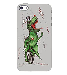 PrintDhaba Funny Image D-5387 Back Case Cover for APPLE IPHONE 5 (Multi-Coloured)