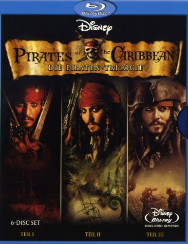 Pirates of the Caribbean - Die Piraten-Trilogie (6 Blu-rays) [Blu-ray]