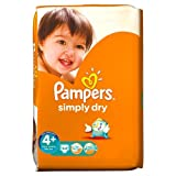 Pampers Simply Dry Nappies Size 4+ Large Pack 44 per pack Case of 1