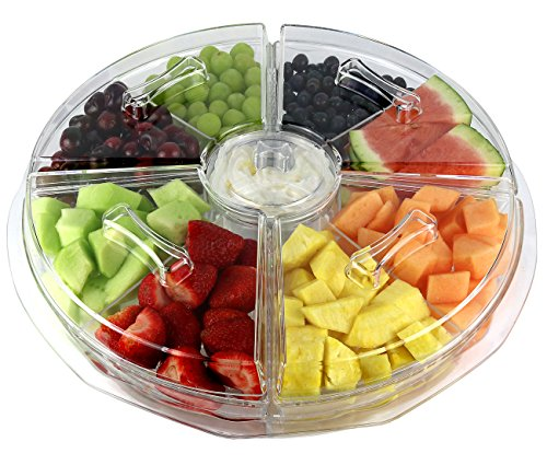 Estilo 8 Section Appetizer Platter On-Ice with Lids, Clear (Appetizer Tray compare prices)