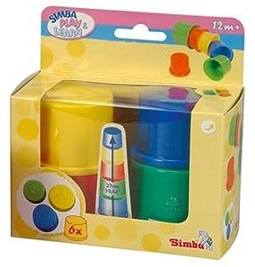 Simba - Cubos apilables de colores, 6 piezas (4010981.0) en BebeHogar.com