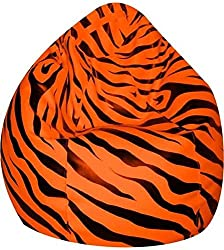 Jupiter Premium Leatherette XXXL Bean Bag Cover (without filling) - Tiger Orange