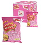 Golden Wonder Prawn Cocktail Case of 48 Packs and Each Pack 34.5g