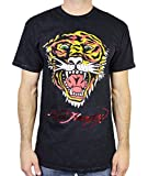 Ed Hardy Men's T Shirt Tiger, Black Mineral, Small