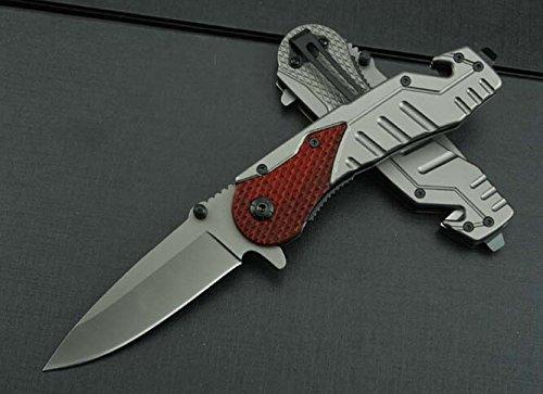 Black Rescue Manually Pocket Folding Survival Camping Knife Blndax13-8.26''