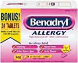 Benadryl Allergy Tablets - 148 tablets