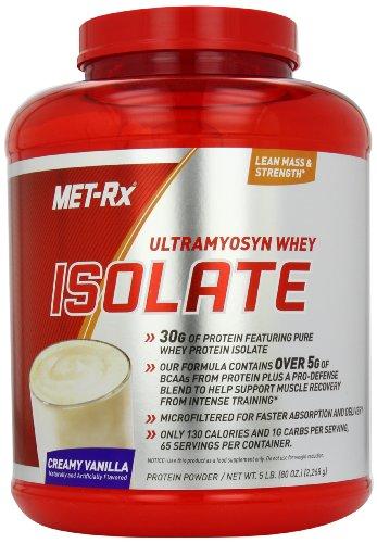 MET-Rx Ultramyosyn Whey Isolate, Vanilla, 5 Pounds