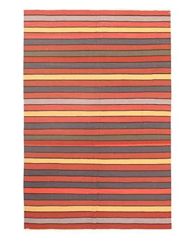 eCarpet Gallery One-of-a-Kind Anatolian Kilim Rug, Orange, 6' 2 x 9'