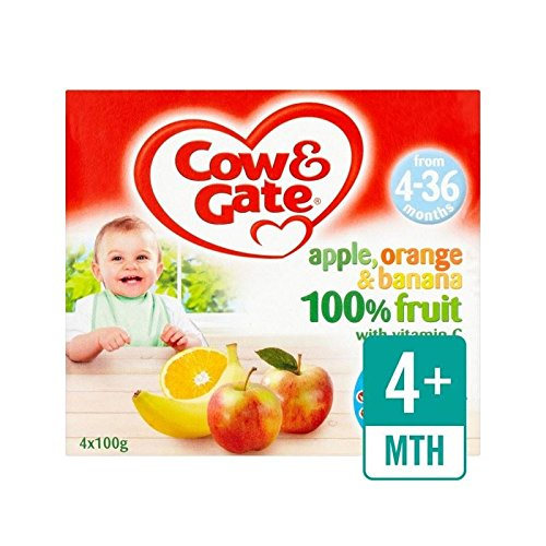 Cow & Cancello Apple Orange E Banane Frutta Pentole 4 X 100G - Confezione da 6